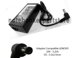 Adaptor Compatible LENOVO 20V - 3.25A DC : 5.5x2.5mm