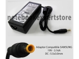 Adaptor Compatible SAMSUNG 19V - 3.16A DC : 5.5x3.0mm Jarum