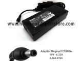 Adaptor Original TOSHIBA 19V - 6.32A ( 5.5x2.5mm )
