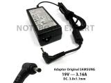 Adaptor / Charger Original Samsung 19v-3.16a Small Plug Dc 3.0x1
