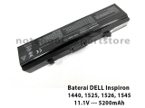 Baterai Laptop DELL Inspiron 1440, 1525, 1526, 1545 ( Oem )