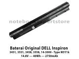 Baterai Original DELL Inspiron 3451, 3551, 3458, 3558, 14-3000