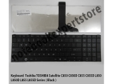 KEYBOARD TOSHIBA C850 L850 BLACK SERIES