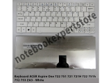 Keyboard Acer 751 d722 ZA3 white