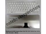 Keyboard Acer 751 d722 ZA3 white