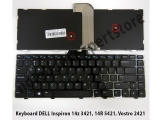 Keyboard DELL Inspiron 14z 3421, 14R 5421, Vostro 2421 - Black