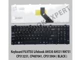 Keyboard FUJITSU Lifebook AH530 AH531 NH751 ( Black )