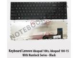 Keyboard Lenovo Ideapad 100-15, Ideapad 100s With Numlock Black