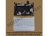 Keyboard SAMSUNG NC108 NC108P NC110 NC110P With Frame WHITE
