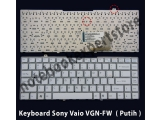 Keyboard Sony Vaio VGN-FW ( Putih )