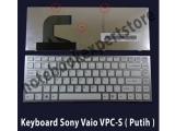 Keyboard Sony Vaio VPC-S ( Putih )
