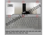 Keyboard TOSHIBA L645 L640 C640 L600 white series