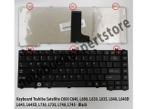 Keyboard Toshiba Satellite C600 C640, L600, L630, L635, L640 - B